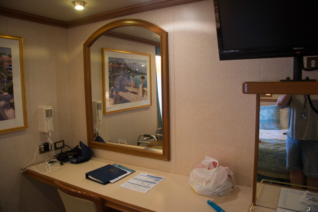 Desk area in handicapped accessible cabin