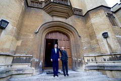 U.S. Secretary of State John Kerry and Archbishop of Canterbury Justin Welby stand outside Lambeth Palace in London, U.K, on January 16, 2017, after they held a private meeting to speak about world reconciliation efforts. [State Department photo/ Public Domain]