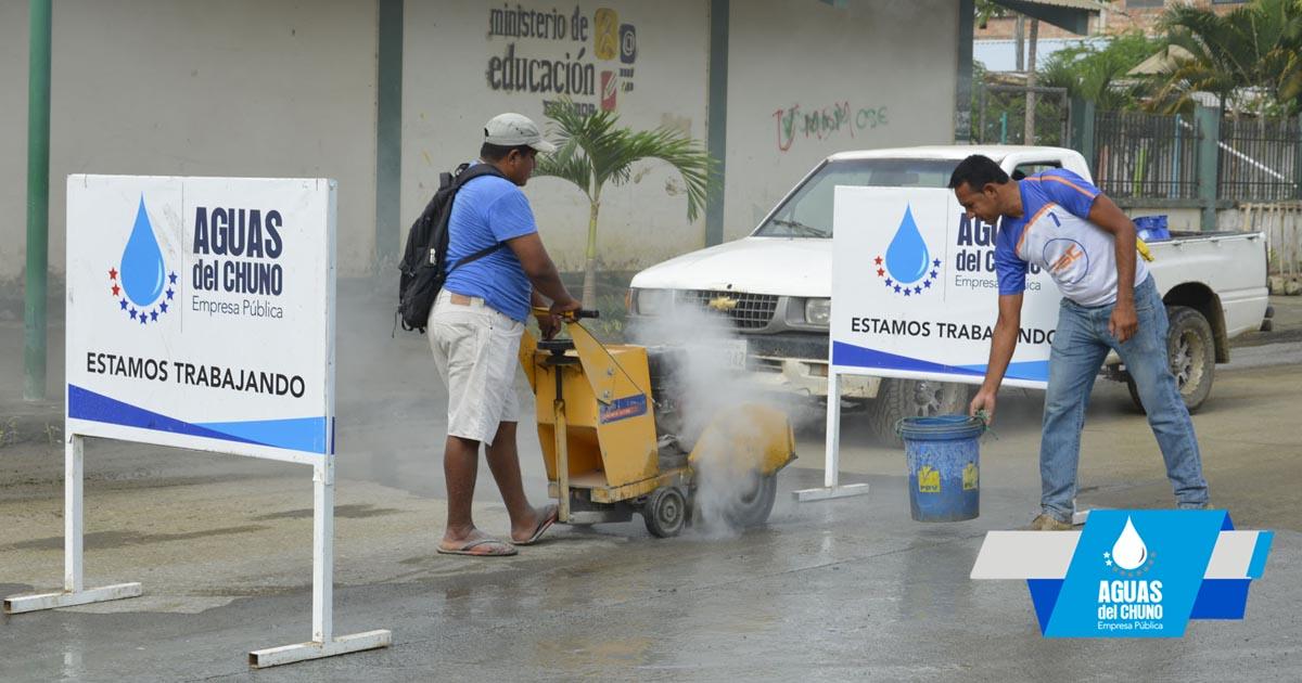 Aguas del Chuno realiza trabajos en varios sectores