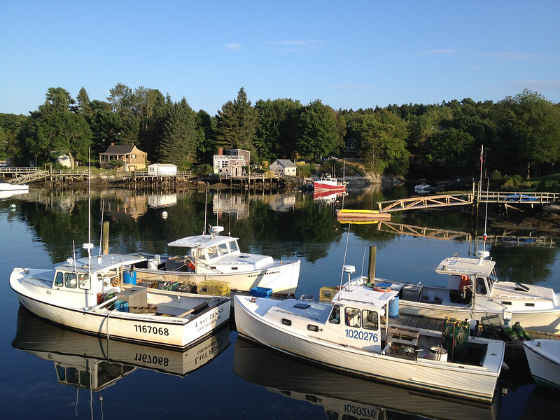 Southport Island Maine boats islands around the globe