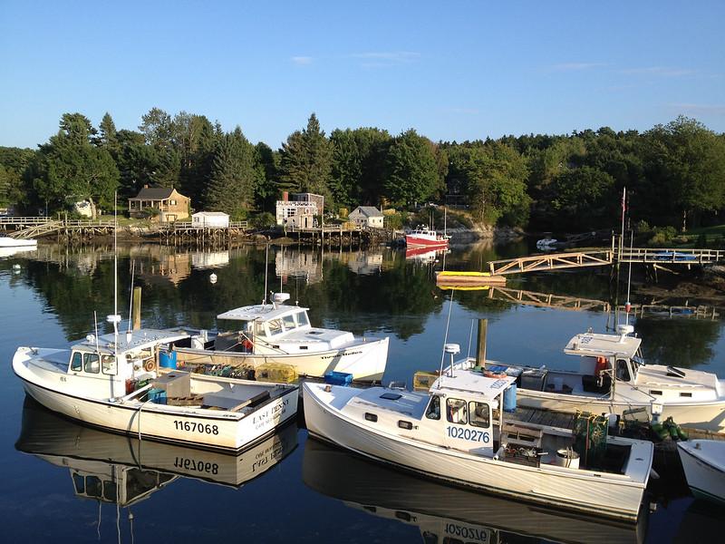Southport Island Maine boats islands around the globe