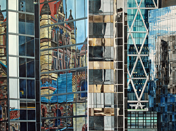 Watercolor Architecture Paintings by Amy Park