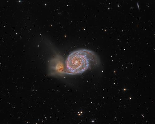 m51 deepspace astrophoto canesvenatici televue40