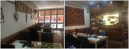 Inside AyaSofya restaurant Catford