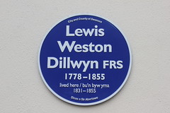 Photo of Lewis Weston Dillwyn blue plaque