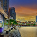 A River Taxi counter at Boat Quay by williamcho