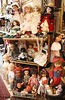Flee market in Israel. Vintage dolls