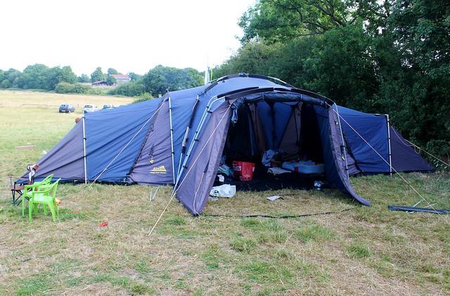 sixth birthday camping party tent khyam ridgipod