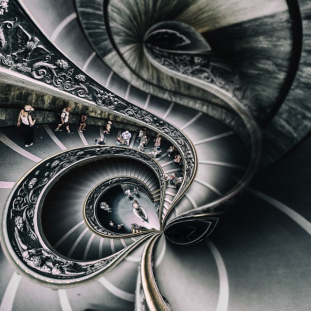 Bramante Staircase Reimagined  -  Vatican, Rome