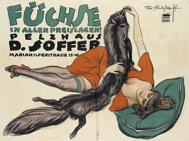 Foxes at all prices! Fur house D. Soffer (1919)