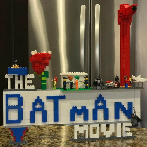 What eight year old doesn't want to be a Master Builder? Ours took inspiration from the latest film for this one. Needs more black, or at least very very dark grey. . . . . #lego #thebatmanmovie #masterbuilder #moc #lobsterthermidor #batman #joker #sharkr