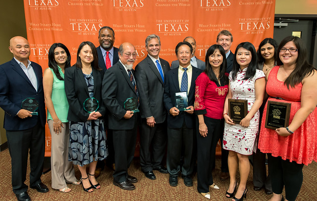 All 2015 honorees pose with Dr. Gregory J. Vincent