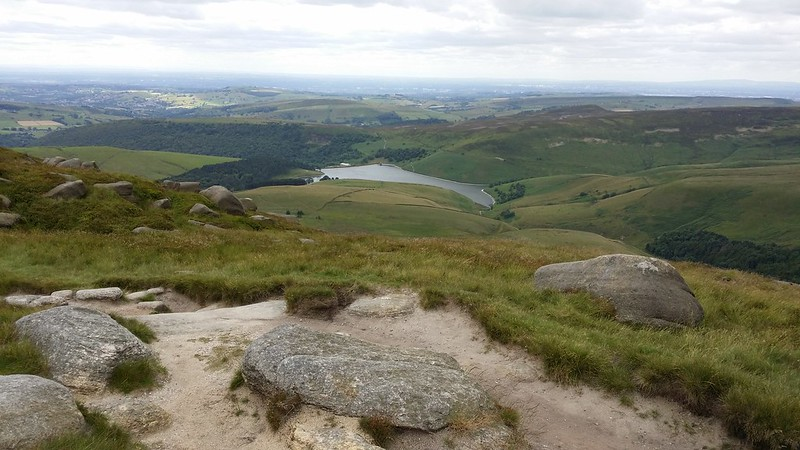 Looking down to Kinder Reservoir #sh
