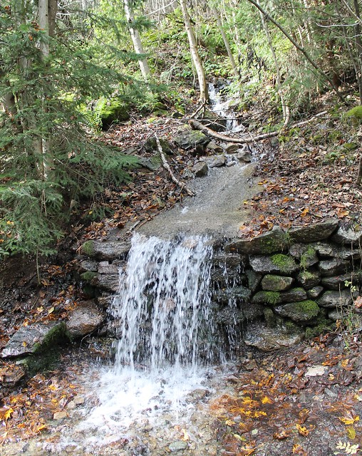 little stream and waterfall chamonix