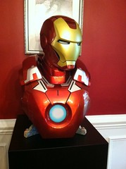 Iron Man Bust on Black Laminate Pedestal