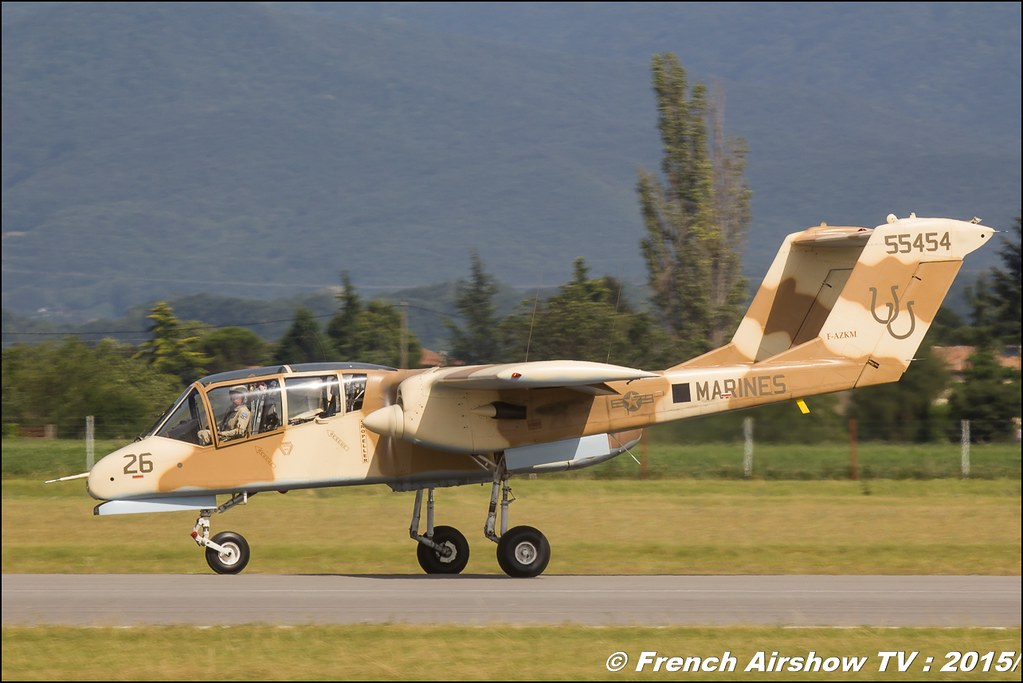 OV-10 Bronco montelimar 2015 , F-AZKM, free flight world masters valence 2015, Bleu ciel Airshow, Chabeuil , Meeting Aerien 2015