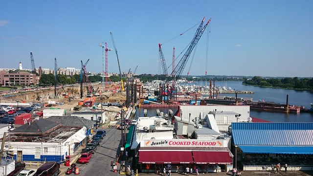 Cranes at the Wharf, 10 July