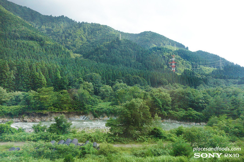akita scenery from shinkansen