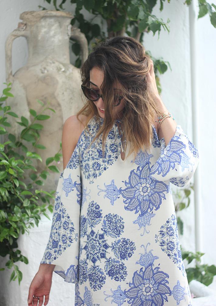 Summer White And Blue Dress Ibiza13