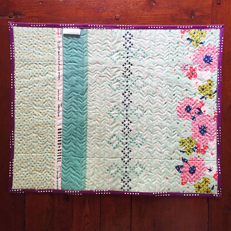 Cotton and Steel Mini Quilt back