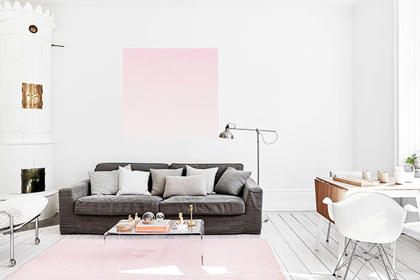 Minimal Apartment With A Touch of Pink