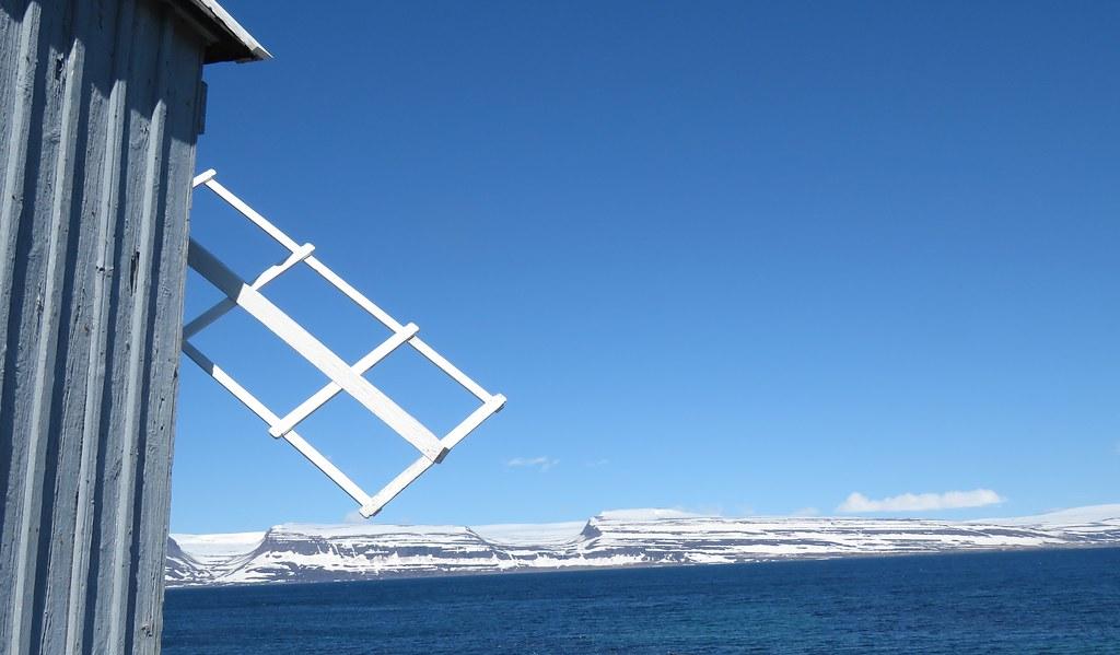 Wind Mill, Vigur Island, Ísafjörður Bay, Iceland