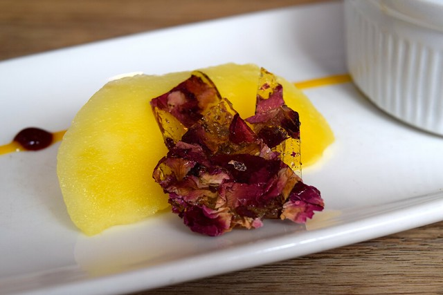 Rose Petal Sugar & Mango at The Ambrette, Canterbury