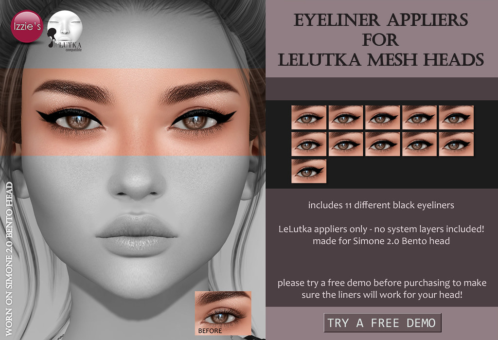 Eyeliner Appliers (LeLutka Bento) for FLF - SecondLifeHub.com
