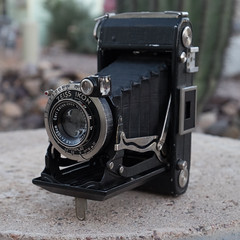 Zeiss Ikon Nettar with Carl Zeiss 105mm f/4.5 lens.