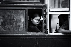 Girl on the bus~ Myanmar