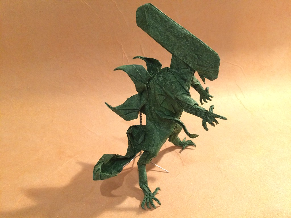Sander jacobs origamis most interesting flickr photos picssr origami alien warrior jeuxipadfo Images