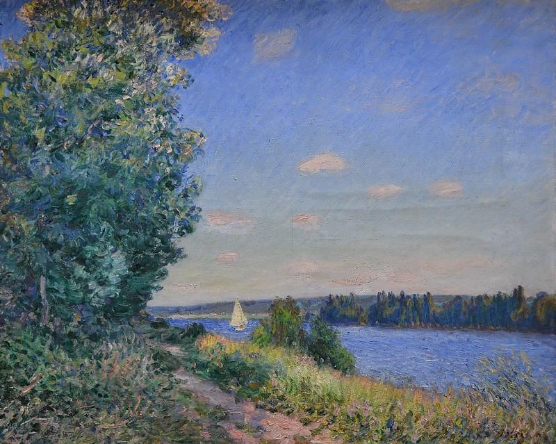 """Rouen (Seine-Maritime) - Musée des Beaux-Arts - """"Le sentier au bord de l'eau à Sahurs, le soir - 1894"""" (Alfred Sisley, 1839-1899)"""