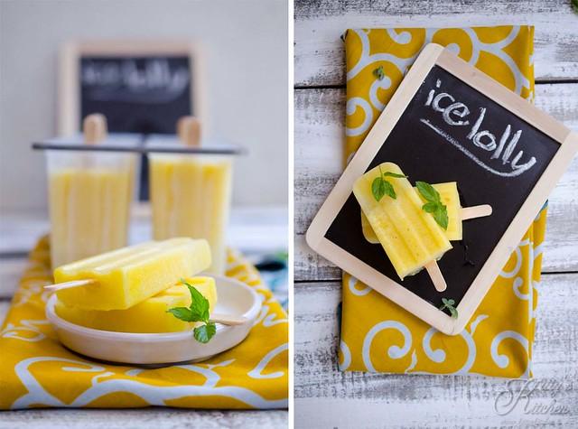 ghiaccioli all'ananas