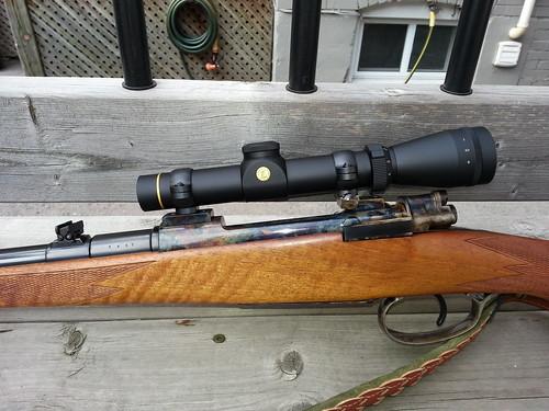 Custom Brno model 21H in 7x57 -- left side action, Leupold VX-2 scope