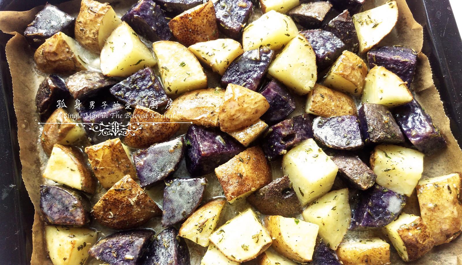 孤身廚房-香草烤雙色馬鈴薯──好吃又簡單的烤箱料理11