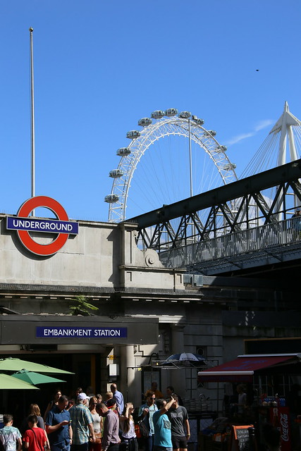 Embankment Station, London.