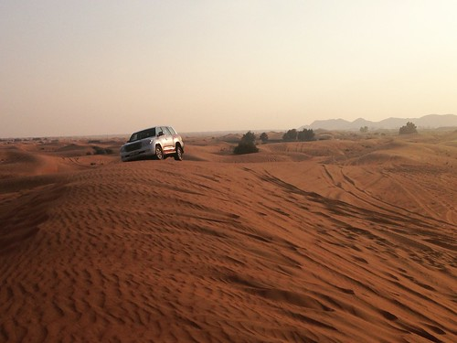 desert safari sand dunes travel jeep toyota 4x4 suv trip arab emirates sunset nature landscape