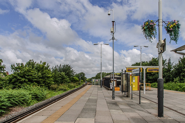 Waiting to take the train from Litherland to Crosby