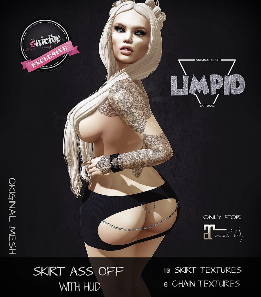 Limpid Skirt Ass Off [Exclusive Suicide Dollz Event] - SecondLifeHub.com