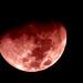 [ - the moon moments ago in faux red - ] by ǝlɐǝq ˙M ʍǝɥʇʇɐW