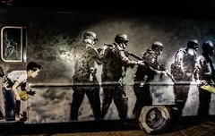 Banksy's SWAT Van Graffiti.
