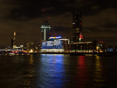 View from the Victoria Embankment at night