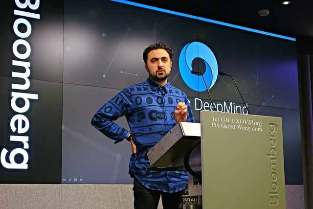 Mustafa Suleyman of DeepMind on Existential Risk from RAW _DSC2195 AFAIK the best talk of the day (those I've seen anyway!)
