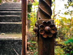 Funicular handrail detail, Montreux