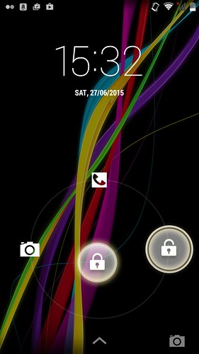 Lock screen ของ Wiko Highway Star 4G