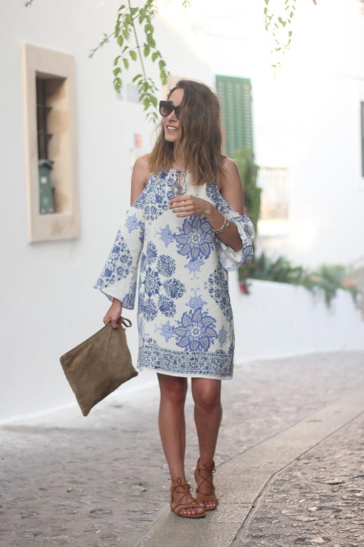 Summer White And Blue Dress Ibiza01