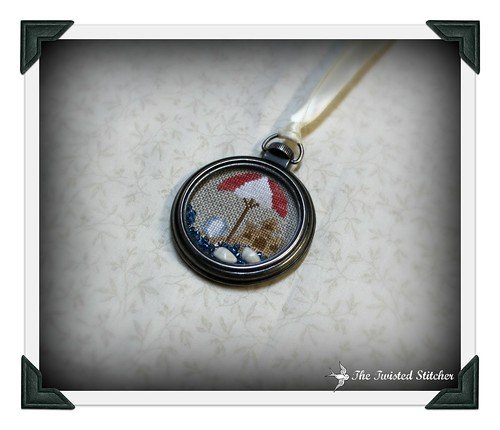 CCN She Sell Sea Shells Pocket Watch Necklace_close