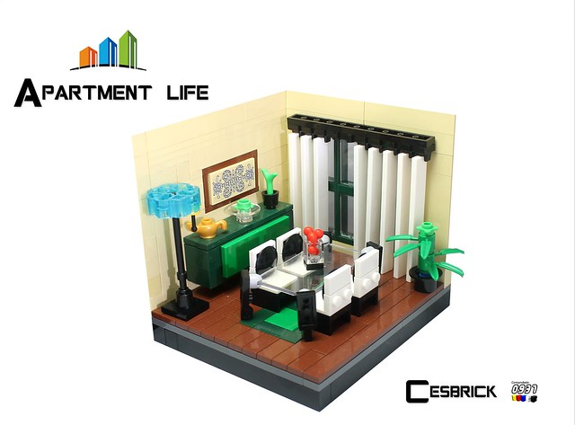 LEGO Apartment life - Living room
