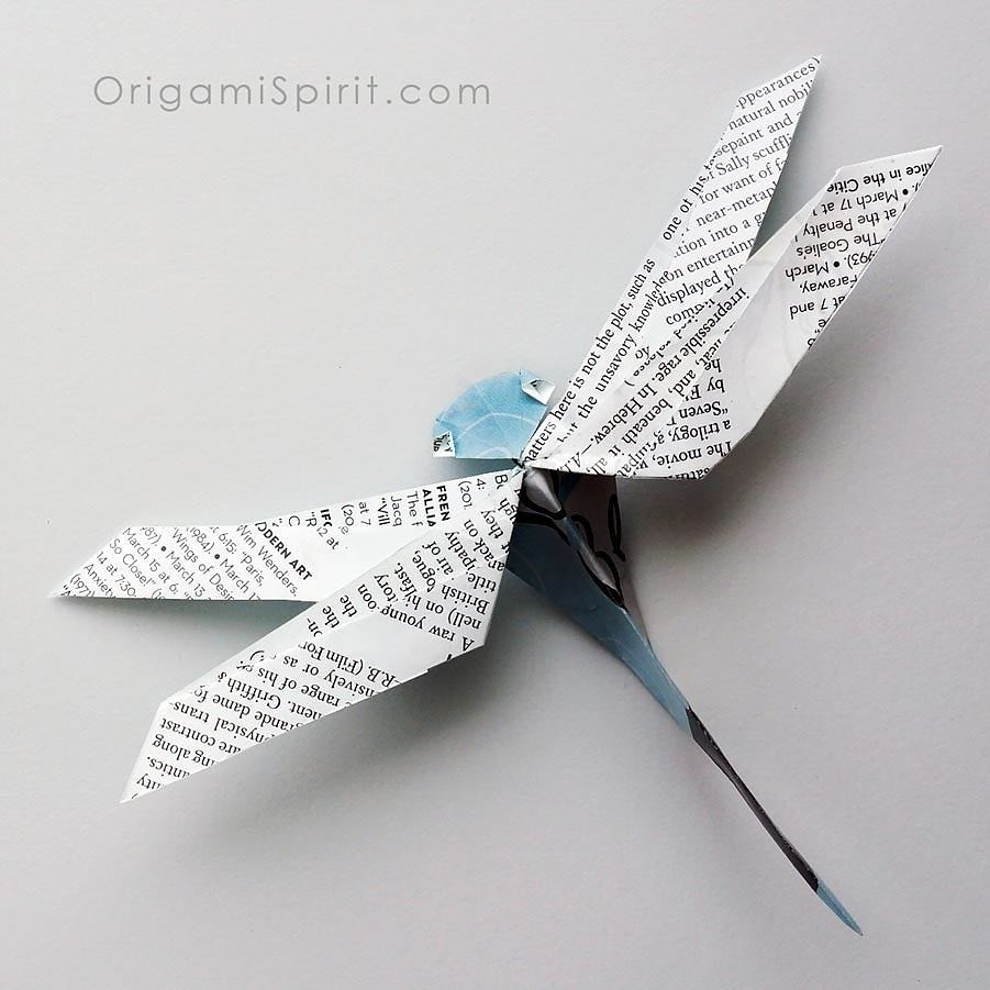 Origami spirits most recent flickr photos picssr origami dragonfly nguyn hng cng jeuxipadfo Image collections