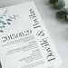 Eucalyptus Letterpress Wedding Invitation